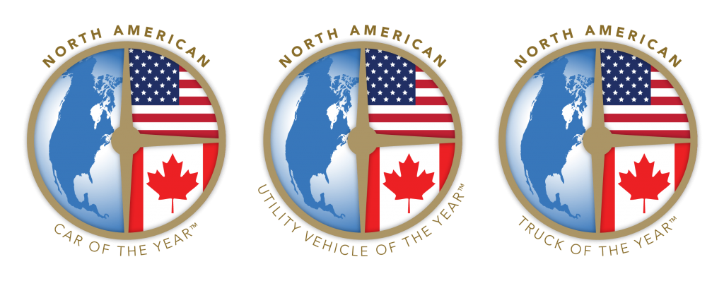 North American Car Utility and Truck of the Year awards logos