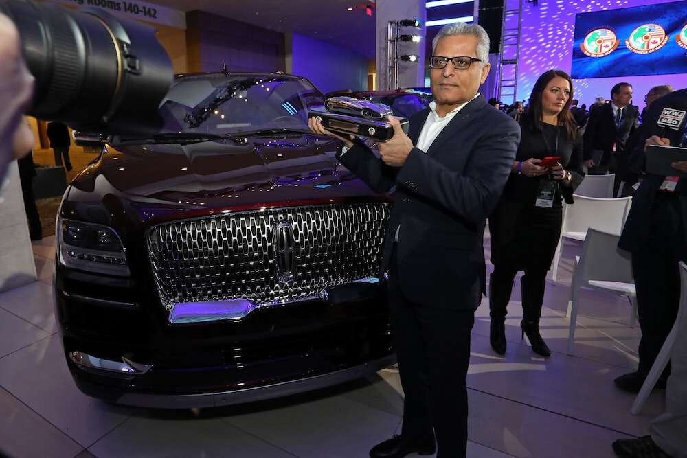 Kumar Galhotra, Group VP Lincoln and Chief Marketing Officer for Ford Motor Company with Lincoln Navigator