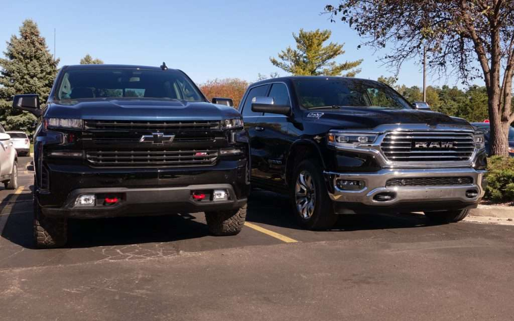 Chevrolet Silverado and Ram 1500 - semi-finalists in the NACTOY Truck of the Year category, along with the GMC Sierra
