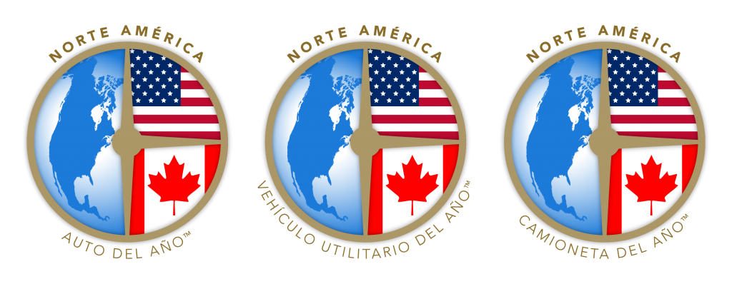 North American Car, Utility and Truck of the Year logos Spanish