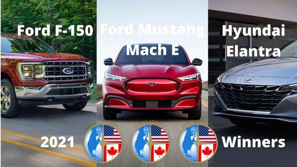 Hyundai Elantra, Ford F-150 y Ford Mustang Mach E ganadores Premios NACTOY 2021